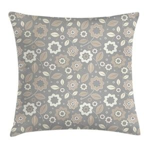 Pillow Case Retro Floral Print Cover No Insert